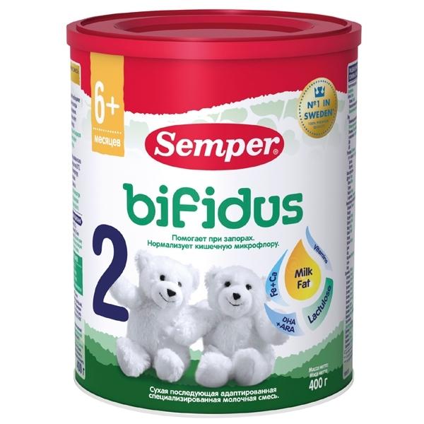 Заменитель Semper Бифидус 400 гр №2 (с 6 мес)<br>