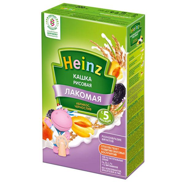 Каша Heinz Лакомая кашка молочная 200 гр Рисовая с абрикосом и черносливом (с 5 мес)<br>