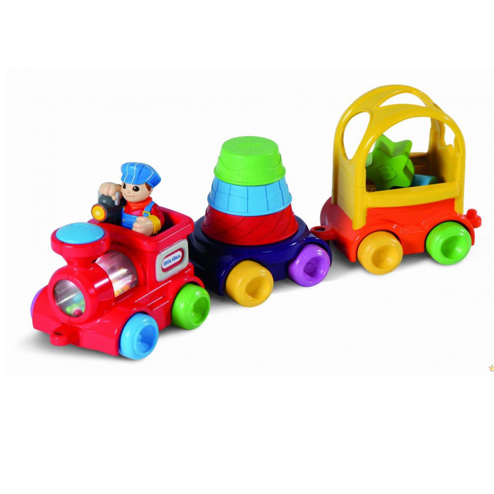 Развивающая игрушка Little Tikes Паровозик с пирамидкой и сортером с 6 мес.<br>