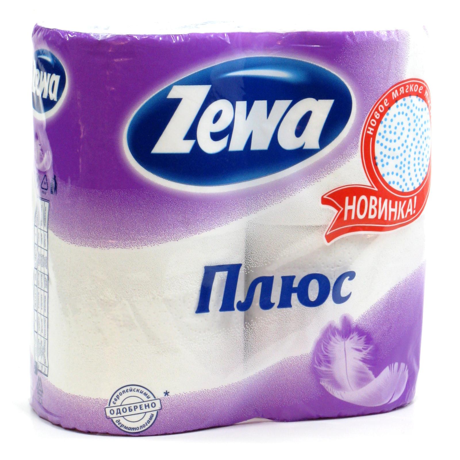 Туалетная бумага Zewa белая (2 слоя) 4 шт<br>