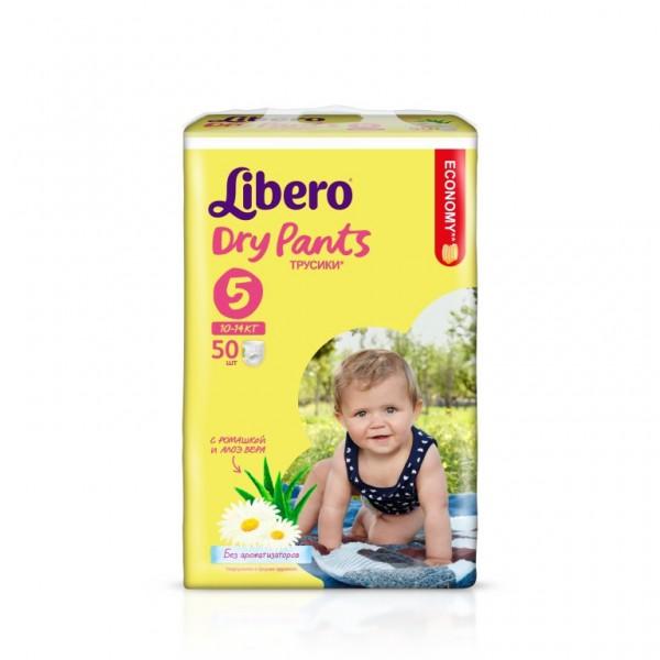 Трусики Libero Dry Pants Maxi+ 10-14 кг (50 шт) Размер 5<br>