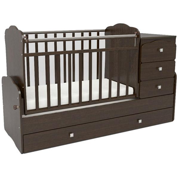 Кроватка-трансформер СКВ компани 93003 Венге<br>