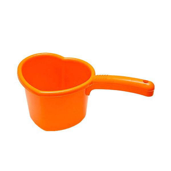 Ковш Пластик Сердечко 1,5 л. цвет - Мандариновый<br>