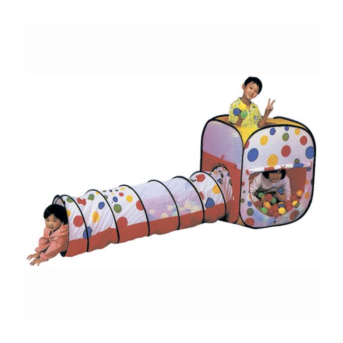 Игровой Дом Calida Квадрат с туннелем + 100 шаров<br>