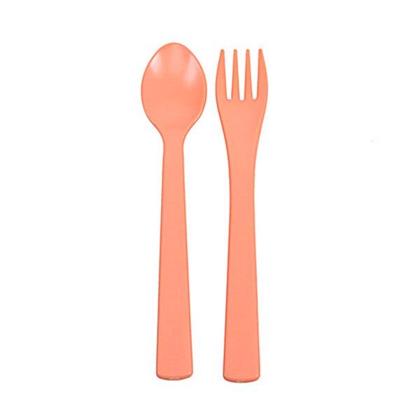 Набор UINLUI для кормления Ложка и вилка (персиковый)<br>