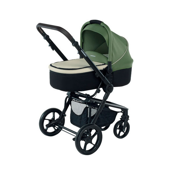 Коляска 3 в 1 Foppapedretti 3Chic Travel System Black Frame Green<br>