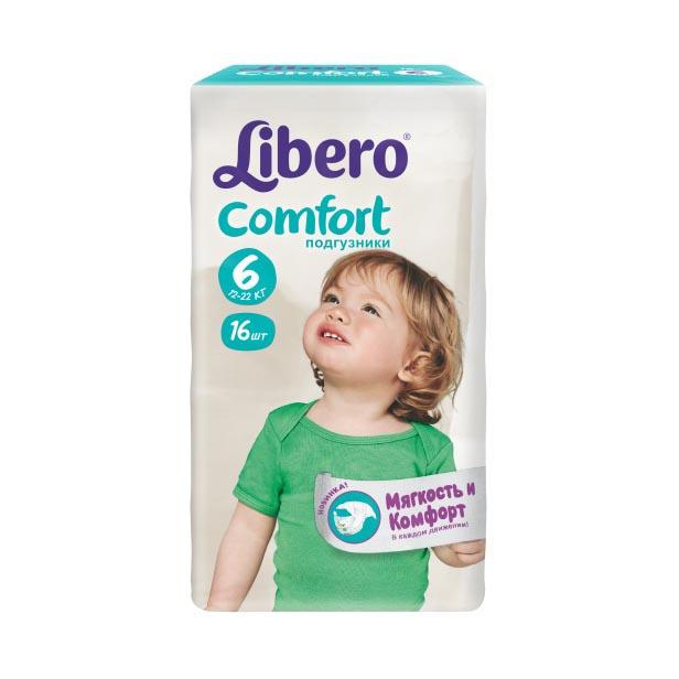 Подгузники Libero Comfort Extra large 12-22 кг (16 шт) Размер 6<br>