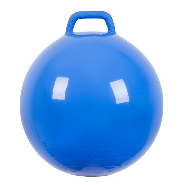 Мяч Прыгун МалышОк с ручкой 50см Синий<br>