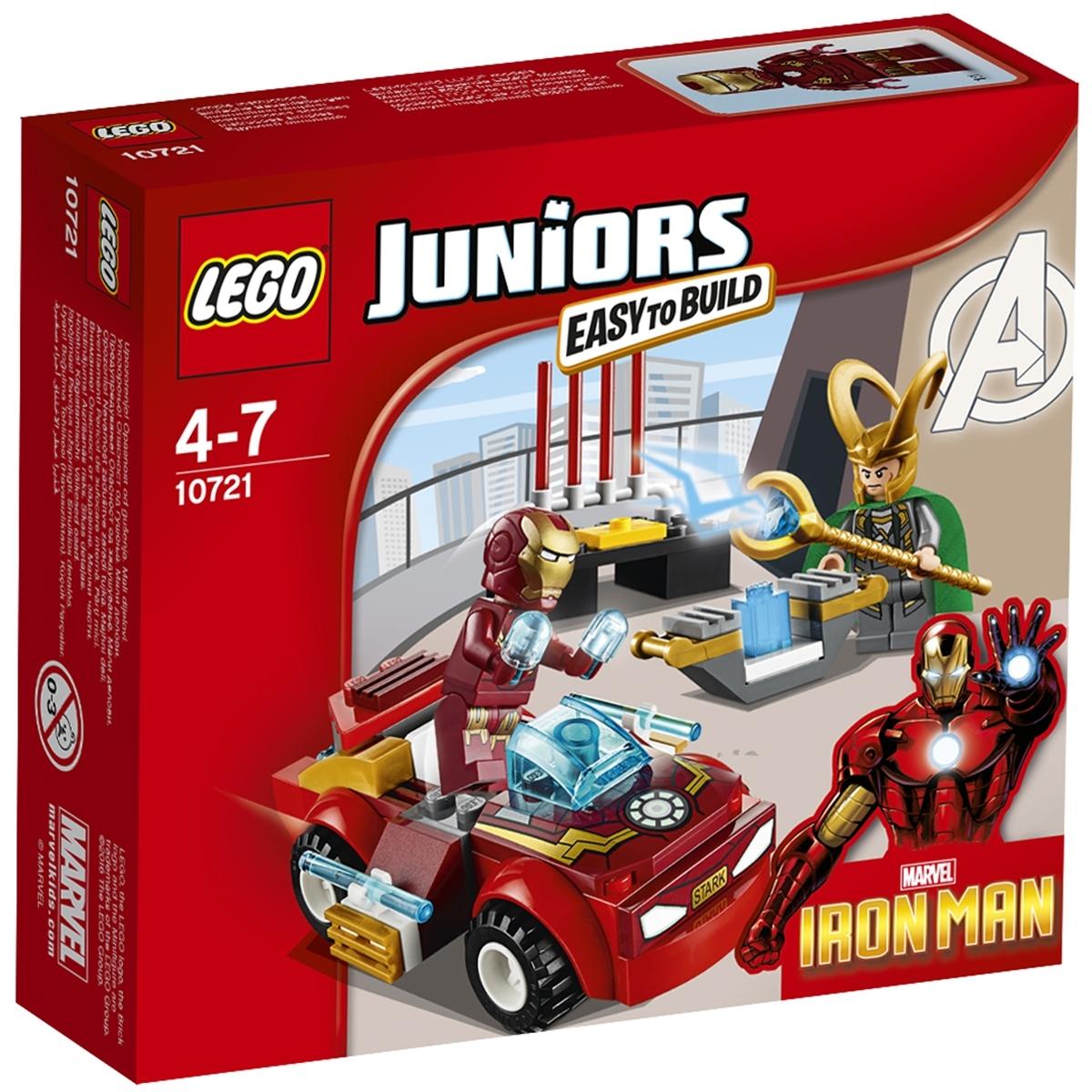 Конструктор LEGO Junior 10721 Железный человек против Локи<br>