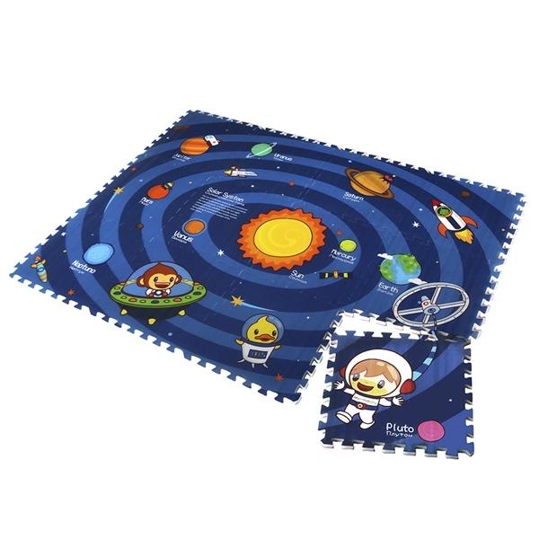 Детский развивающий коврик-пазл Mambobaby двухсторонний Солнечная система 180х135х2<br>