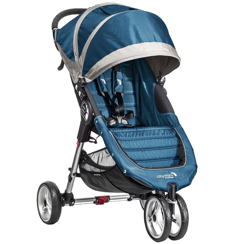 Коляска Baby Jogger City Mini Single Голубая с серым<br>