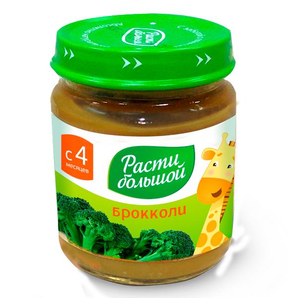 Пюре Расти Большой овощное 100 гр Брокколи (с 4 мес)<br>