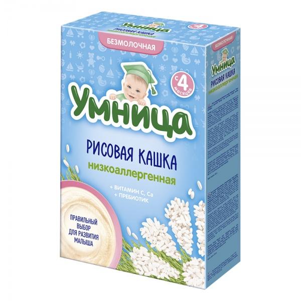 Каша Умница низкоаллергенная 200 гр б/мол Рисовая (с 4 мес)<br>