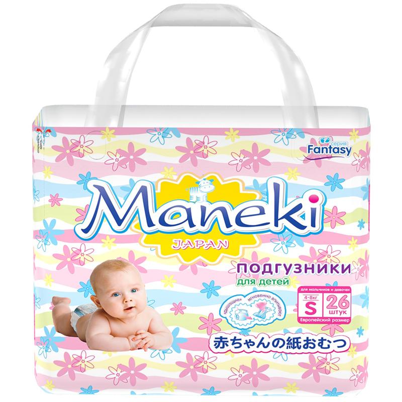 Подгузники Maneki Fantasy Mini 4-8 кг (26 шт) Размер S<br>