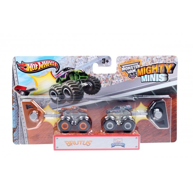 Набор машинок Hot Wheels Monster Jam Mighty Minis Brutus, Lucas Crusader