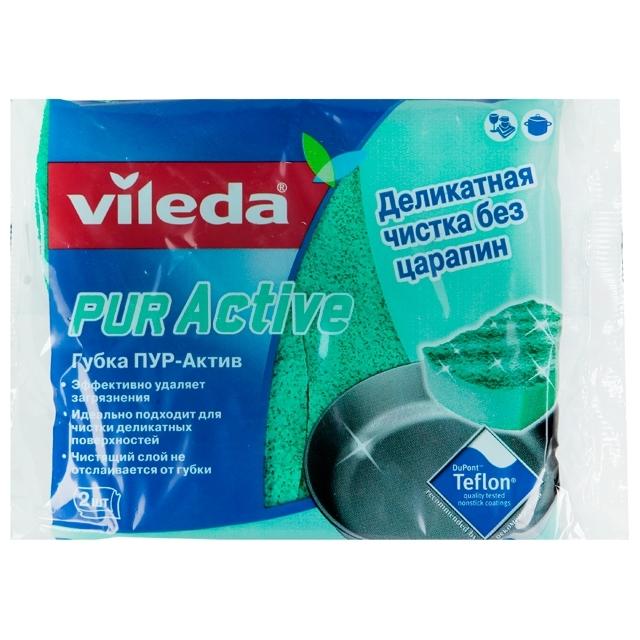 Губка Vileda PUR active для посуды 2 шт<br>