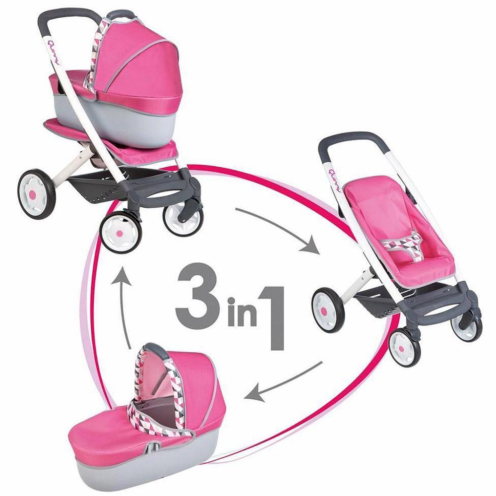 Кукольная коляска Smoby Трансформер 3в1 MC&amp;amp;Quinny 38.5х52х65.5 см<br>