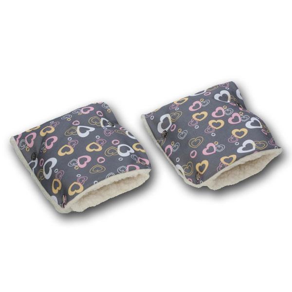 Муфты-рукавички Чудо-Чадо (Рисунок) меховые Сердечки<br>