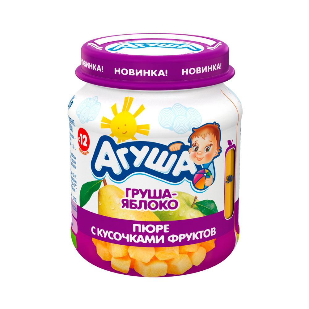 Пюре Агуша фруктовое 105 гр Яблоко груша (с 12 мес)