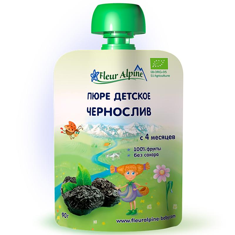 Пюре Fleur Alpine 90 гр фруктовое Чернослив (с 4 мес)<br>