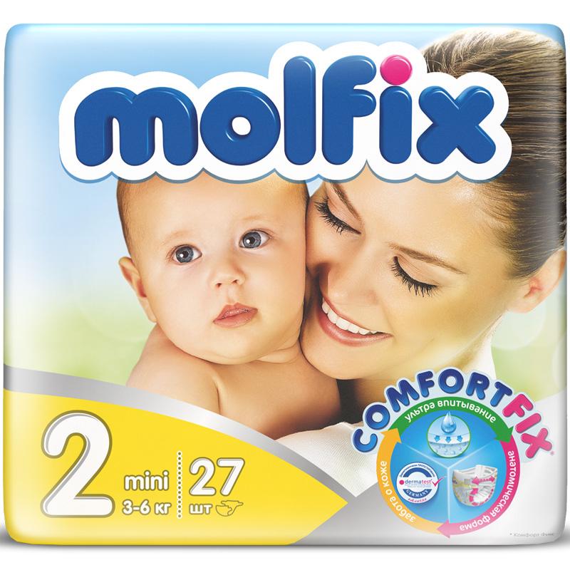 Подгузники Molfix Comfort Fix Mini 3-6 кг. (27 шт.) Размер 2