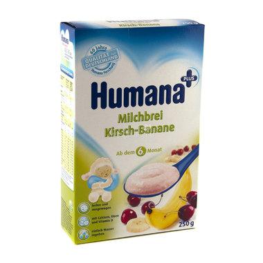 Каша Humana молочная 250 гр Рисовая с бананом и вишней (с 6 мес)