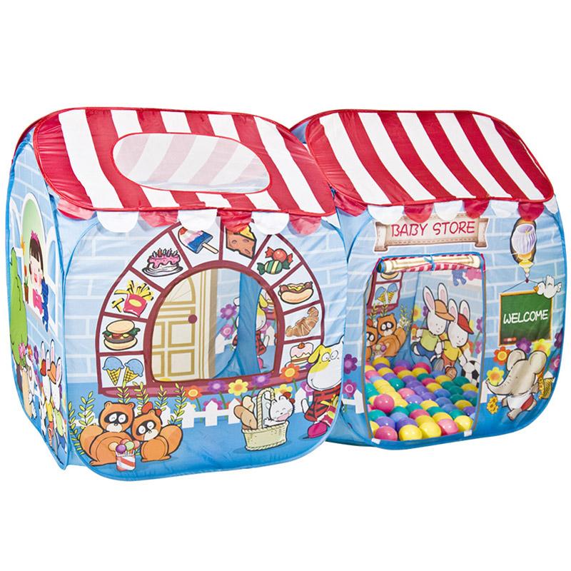 Игровой Дом Alis Сладкий остров с шарами 100шт 180x95x80cm CBH-15<br>