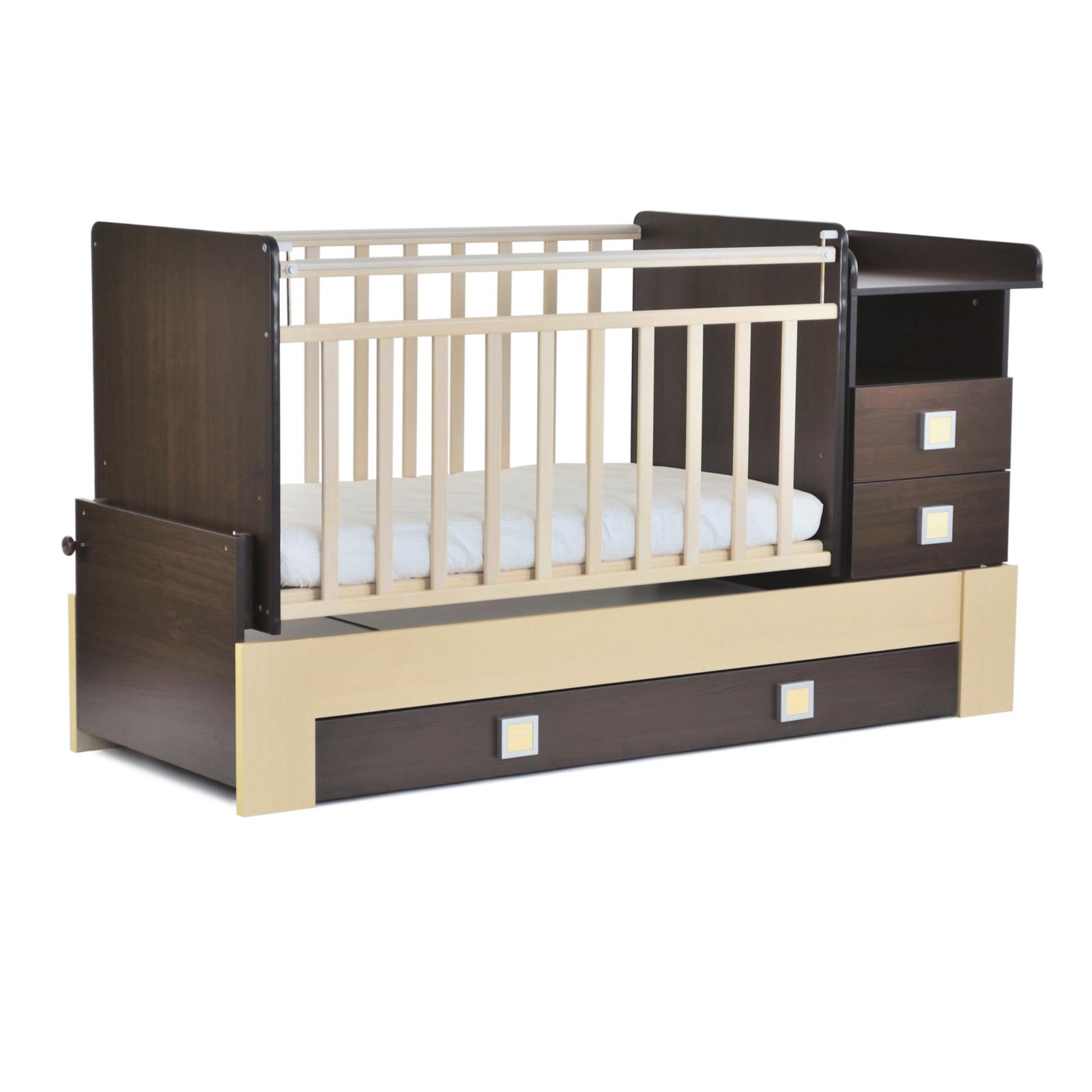 Кроватка-трансформер СКВ компани 83003 Венге/Береза<br>