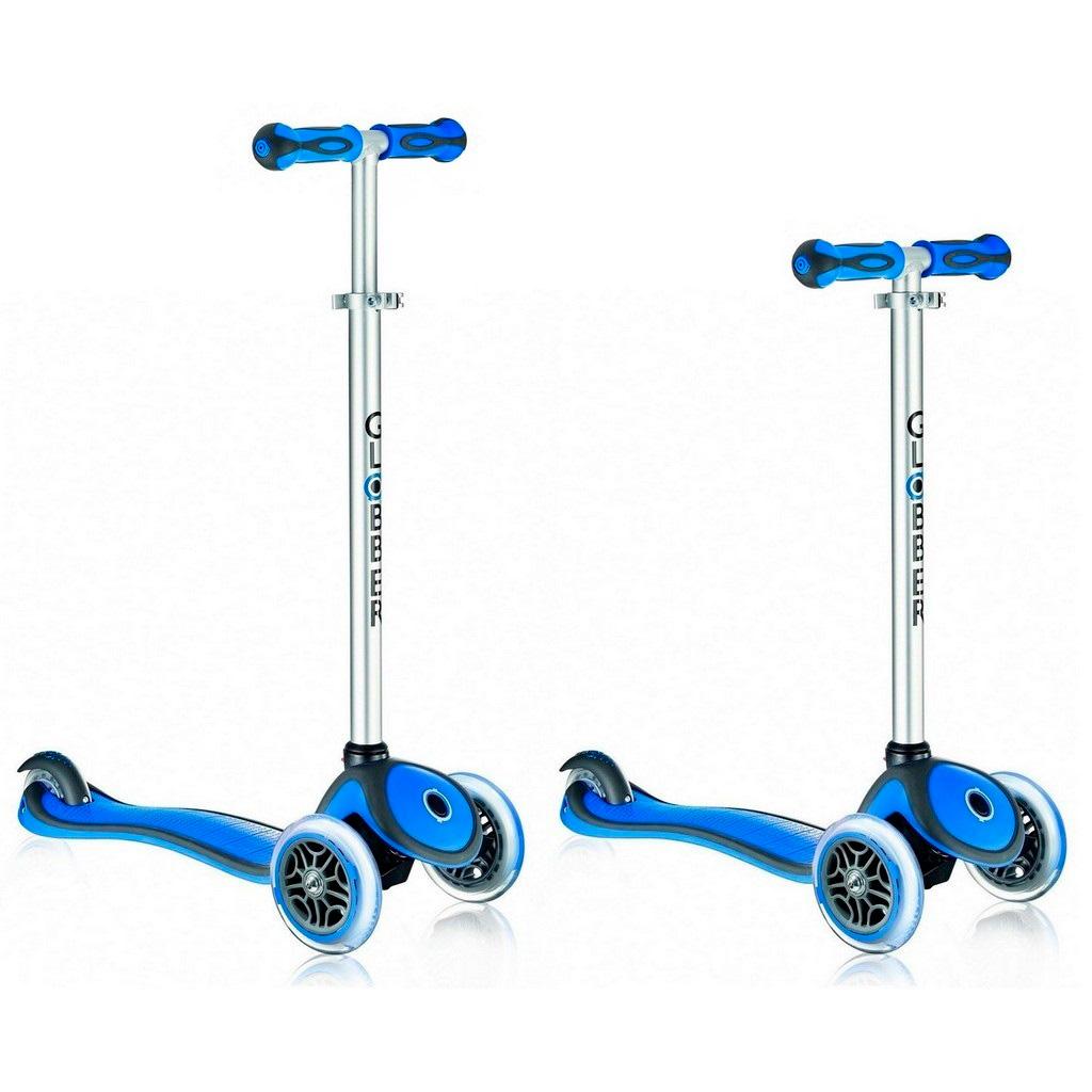 Самокат Y-SCOO RT Globber My free NEW Technology с блокировкой колес Dark Blue<br>