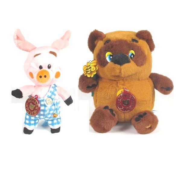 Мягкая игрушка Мульти-пульти Винни Пух и Пятачок<br>