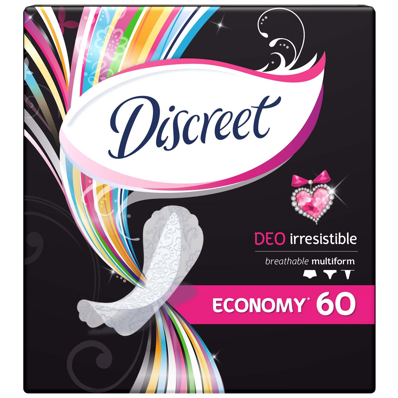 Прокладки гигиенические Discreet ежедневные Deo Irresistible Multiform Trio 60шт<br>