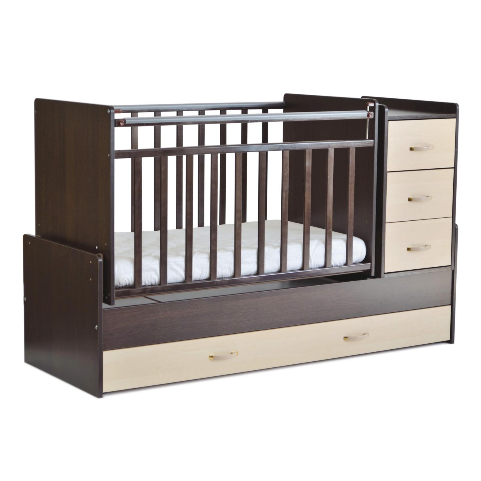 Кроватка-трансформер СКВ-компани, 53403 венге-береза
