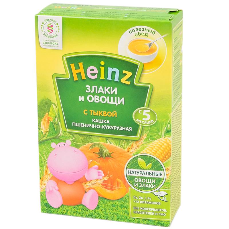 Каша Heinz молочная 200 гр Пшенично-кукурузная с тыквой (с 5 мес)<br>