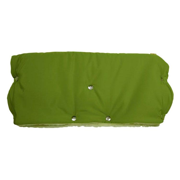 Муфта для коляски Чудо Чадо для защиты рук от холода на кнопках Зеленый<br>