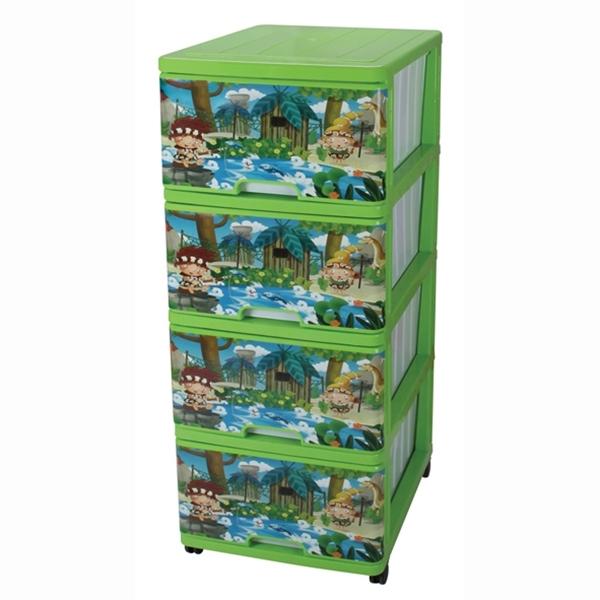 Комод для игрушек Dunya Декор Джунгли Зеленый<br>
