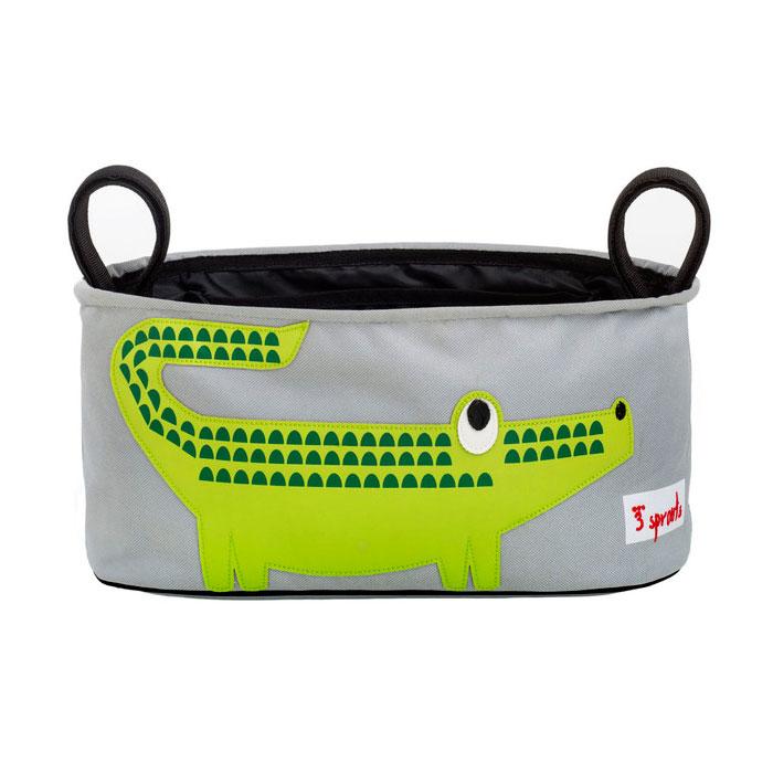 Сумка-органайзер для коляски 3 Sprouts Крокодил (Green Crocodile) Арт. 72840<br>