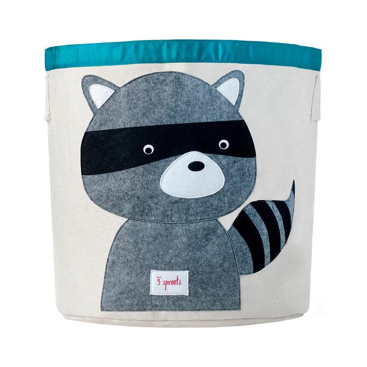 Корзина для хранения 3 Sprouts Енот (Grey Raccoon) Арт. 67561<br>