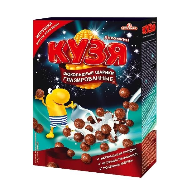 Шарики Кузя Лакомкин шоколадные Мультизерновые (215 гр)<br>