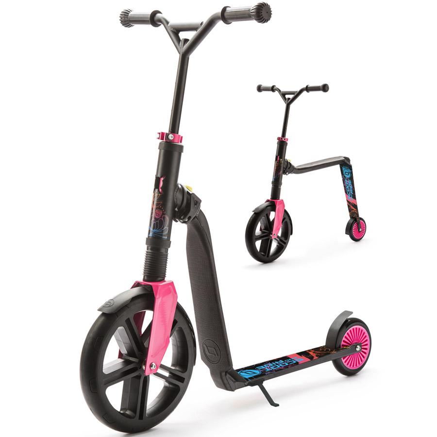 Самокат-беговел 2в1 Scoot&amp;amp;Ride Highway Gangster трансформер Черный-розовый-голубой<br>