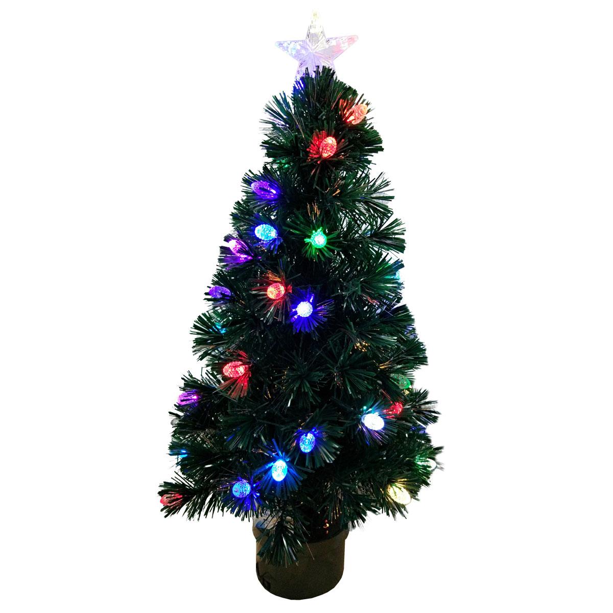 Елка световод Winter Wings 90 см 100 веток с разноцветными супер-яркими шишками 42 LED шишки<br>