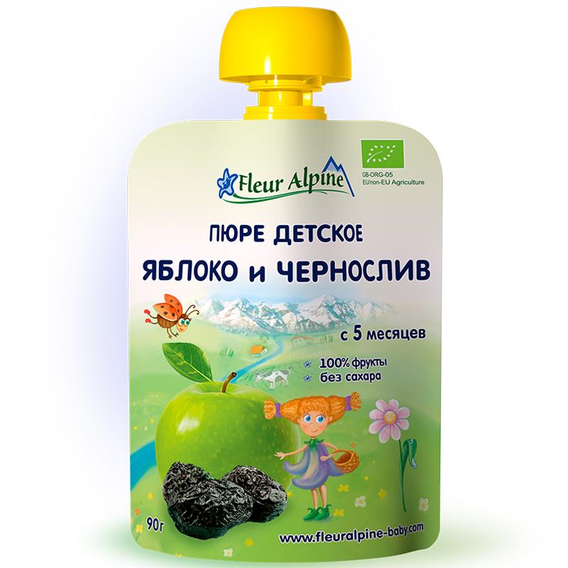 Пюре Fleur Alpine 90 гр фруктовое Яблоко чернослив (с 5 мес)<br>