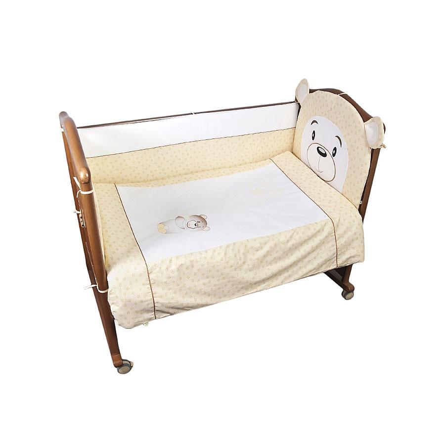 Борт в кроватку Сонный гномик Умка Бежевый<br>