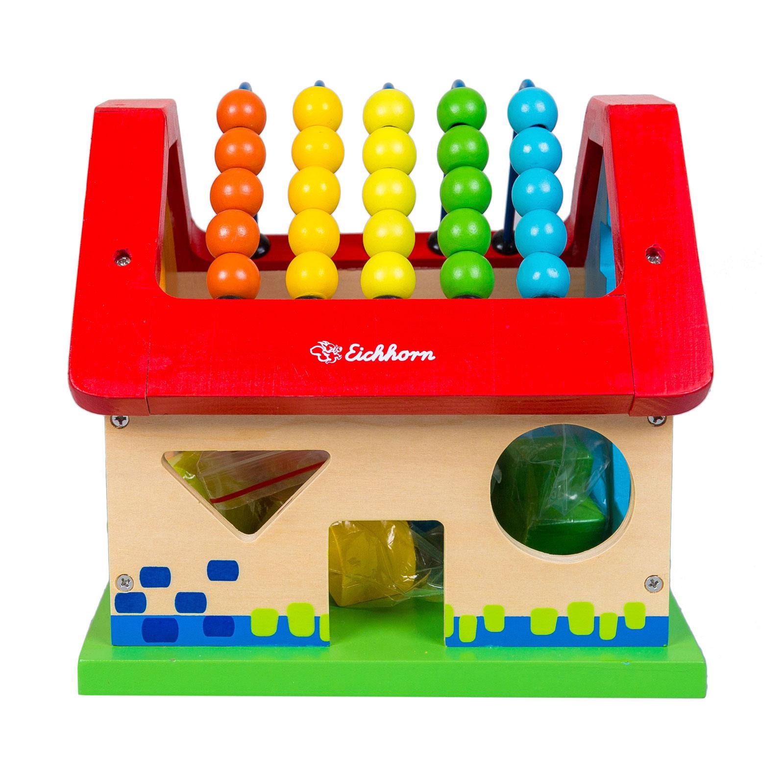 Развивающая игрушка Eichhorn Развивающая игрушка-сортер Домик с 12 мес.<br>