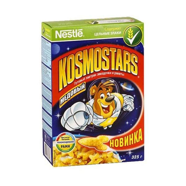 Готовые завтраки Nestle 325 гр. Kosmostars медовый (Звездочки и ракеты)<br>