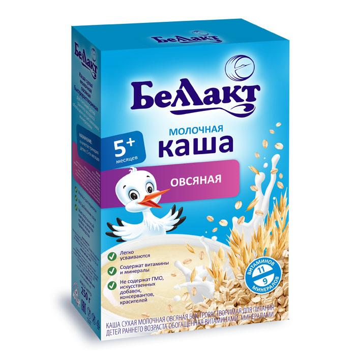 Каша БЕЛЛАКТ молочная быстрорастворимая 200 гр овсяная (с 5 мес)<br>