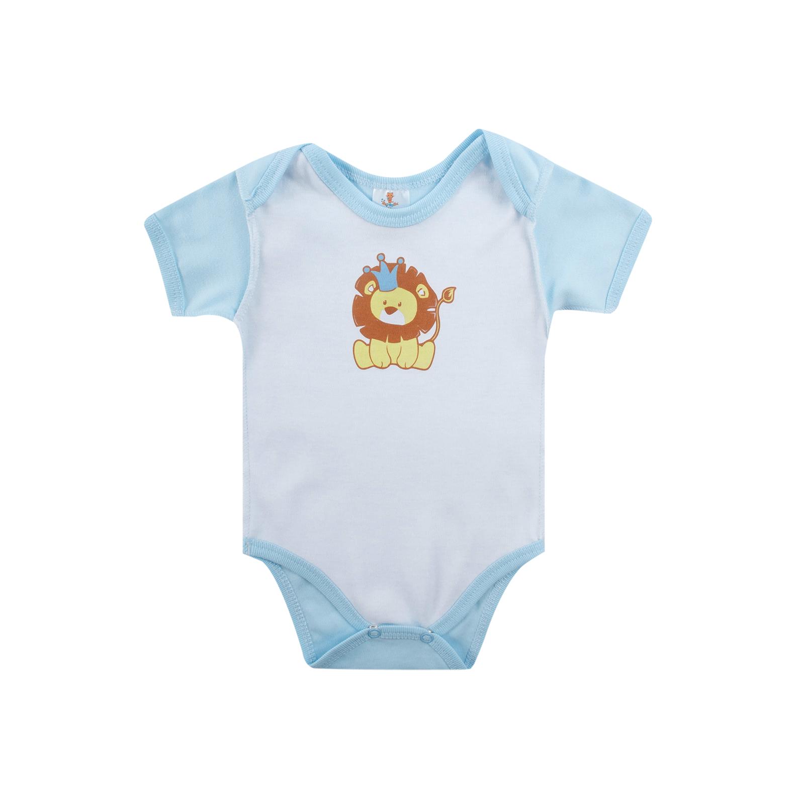 Боди с коротким рукавом КОТМАРКОТ для мальчика, цвет голубой 0-1 мес (размер 56 см)<br>