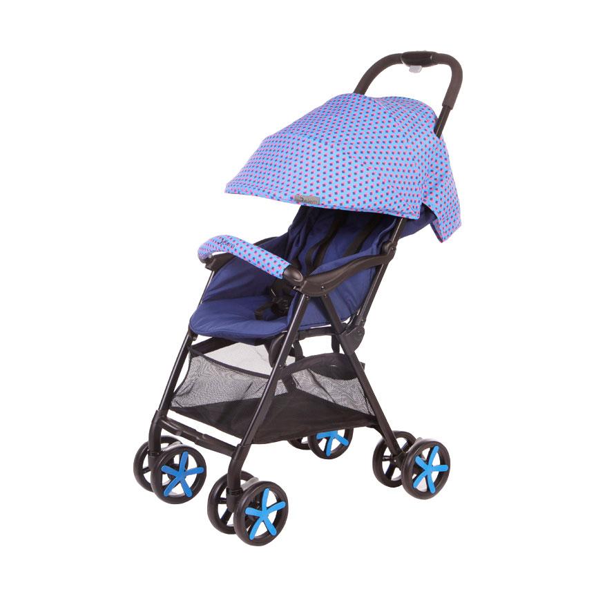 Коляска прогулочная Jetem Carbon Синяя<br>