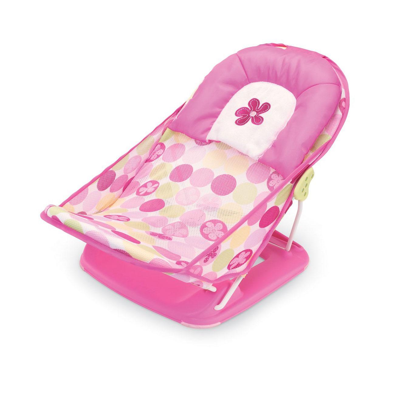 Лежак Summer Baby Bather розовый с 0 мес