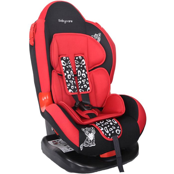 Автокресло Baby Care BC-02 Люкс Леопардик Красный<br>