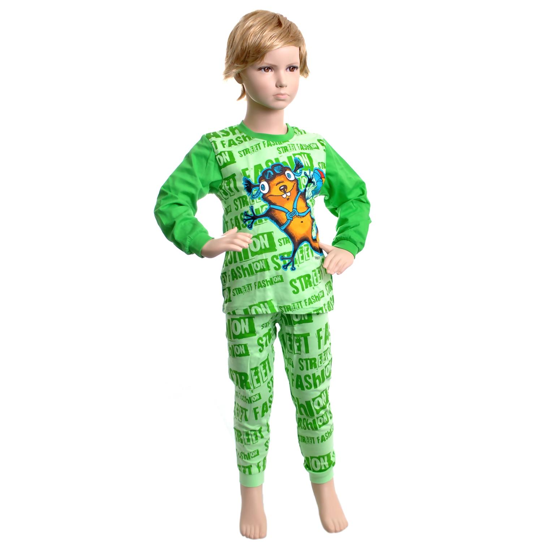 Пижама Pelican цвет Зеленый BNJP296(1-4) возраст 4 года